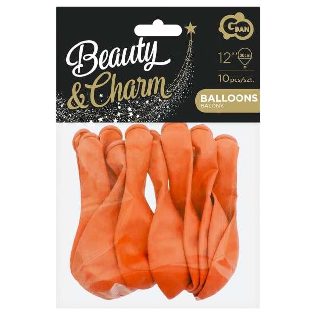 Balony Beauty and Charm - pastelowe pomarańczowe Godan 12 10 szt.