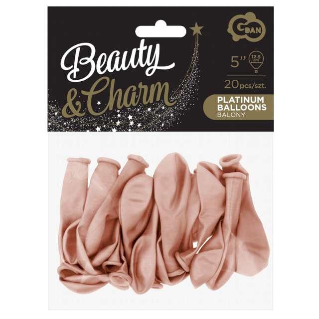 Balony Beauty and Charm - platynowe różowe złoto Godan 5 20 szt.