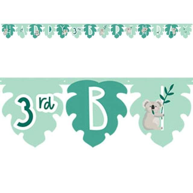 "Baner ""Happy Birthday - Koala, personalizowany"", Amscan, 320 cm"