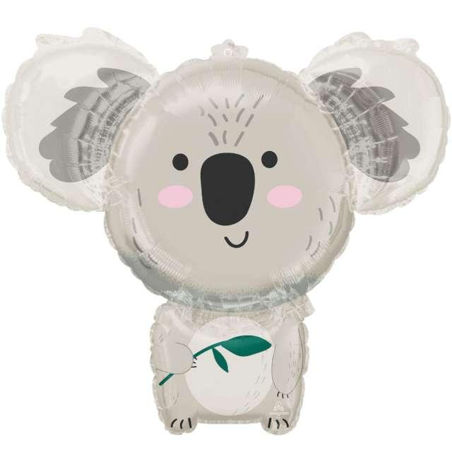 Balon foliowy Koala z liściem Amscan 28 SHP