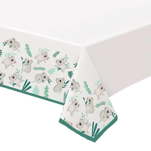 """Obrus papierowy """"Koala"""", Amscan, biały, 274 x 137 cm"""