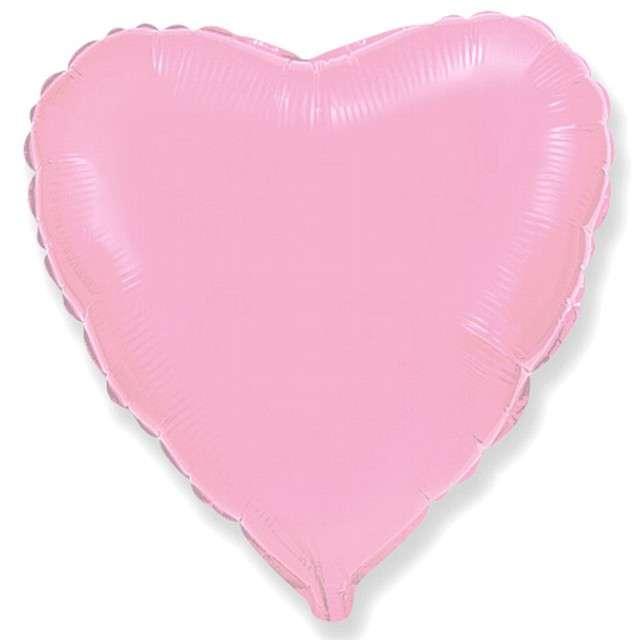Balon foliowy Serce jasnoróżowe Flexmetal 9 HRT