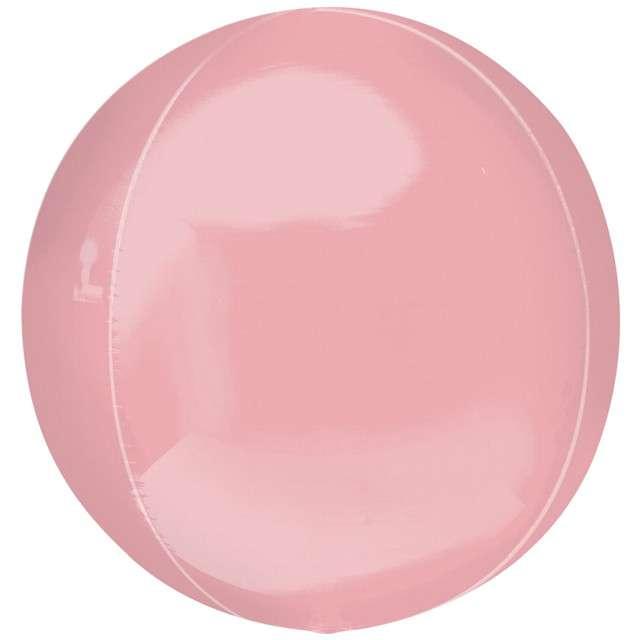 "Balon foliowy ""Kula"", różowy pastelowy, Amscan, 16"", ORB"