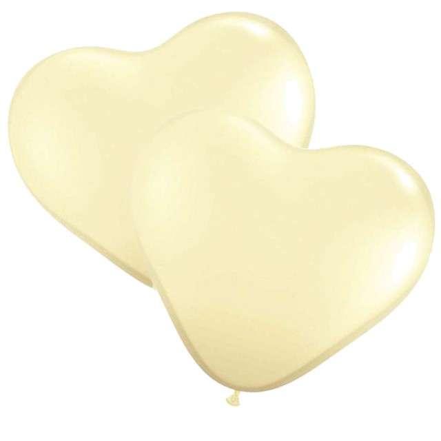 """Balon """"Serce pastel"""", kość słoniowa, Gemar, 36"""", 2 szt., HRT"""