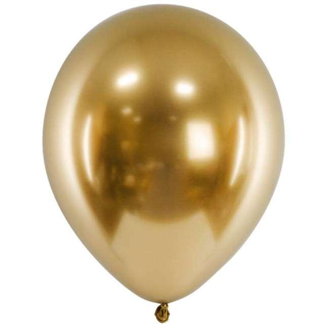 """Balony """"Shiny"""", złote, Gemar, 5"""", 100 szt."""