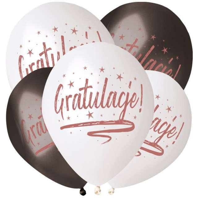 """Balony """"Gratulacje"""", Gemar, 13"""", 5 szt."""