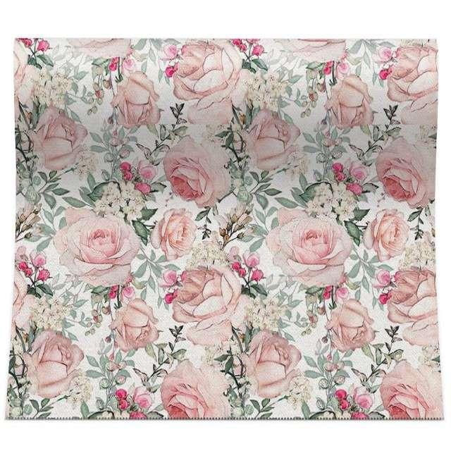 """Bieżnik """"Wzorzyste róże"""", PAW, 480x33 cm"""