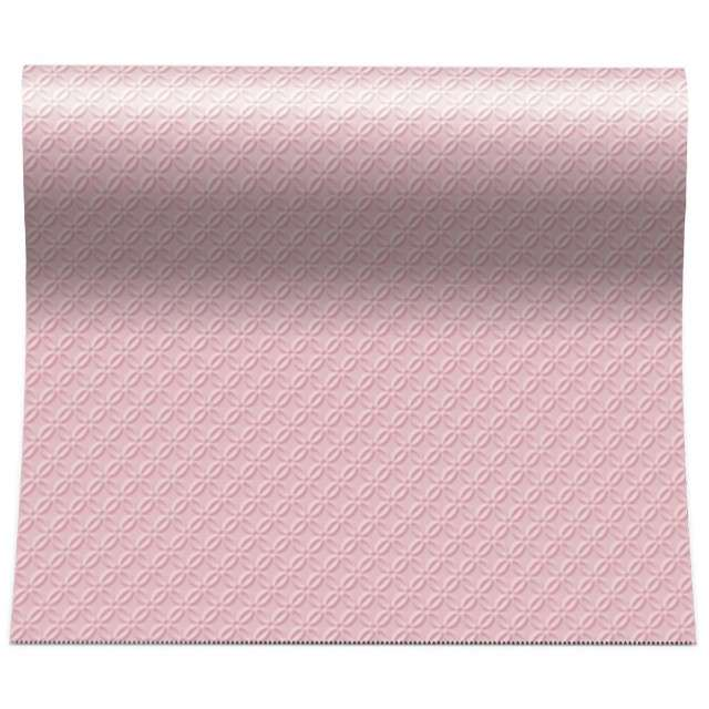 Bieżnik Modern - różowe tłoczenie PAW 480x33 cm
