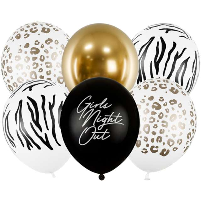 "Balony ""Girls Night Out"", mix, PartyDeco, 12"", 6 szt"