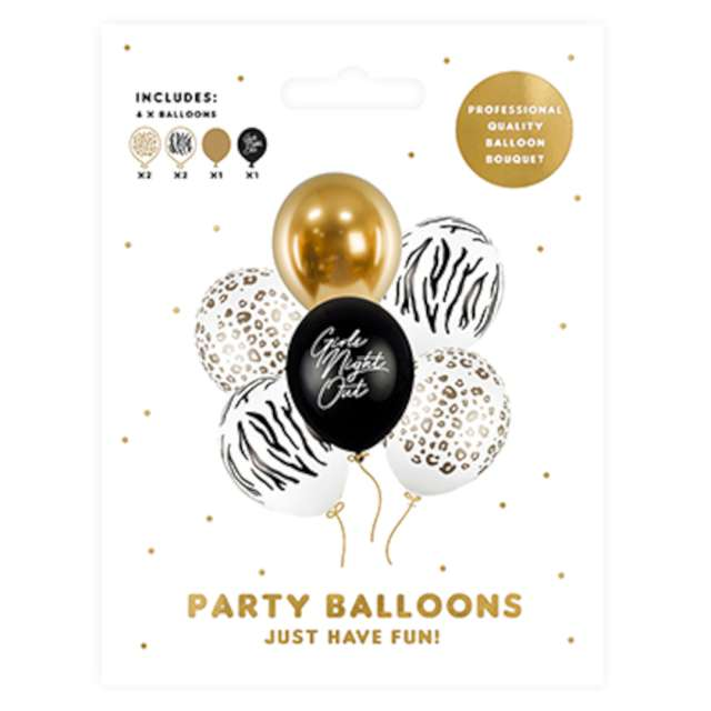 Balony Girls Night Out mix PartyDeco 12 6 szt