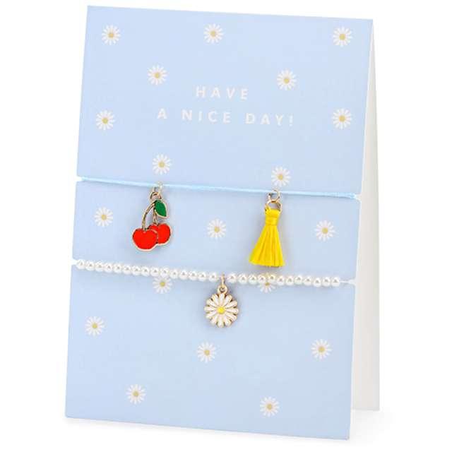 Kartka okolicznościowa Miłego dnia - bransoletka niebieska PartyDeco 105 x 148cm
