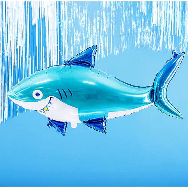 Balon foliowy Rekin niebieski PartyDeco 36 SHP