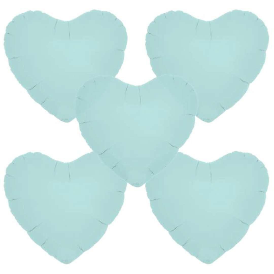 """Balon foliowy """"Serce wypukłe"""", niebieski, Ibrex, 14"""", 5 szt., HRT"""