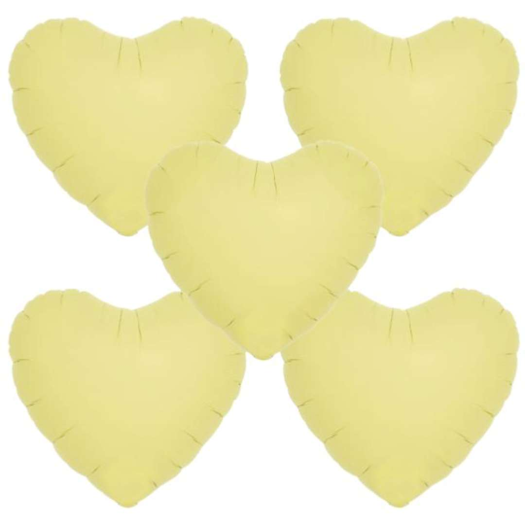 Balon foliowy Serce wypukłe żółty Ibrex 14 5 szt. HRT