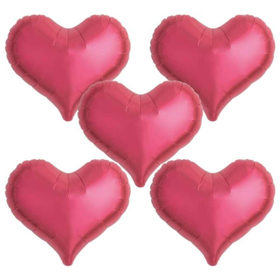 Balon foliowy Serce wklęsłe czerwony Ibrex 14 5 szt. HRT