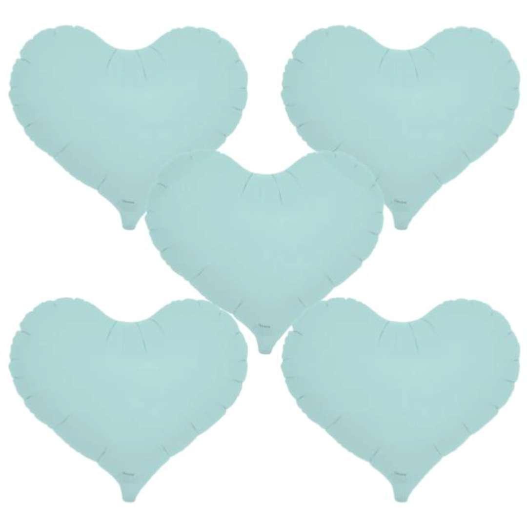 """Balon foliowy """"Serce wklęsłe"""", niebieski, Ibrex, 14"""", 5 szt., HRT"""