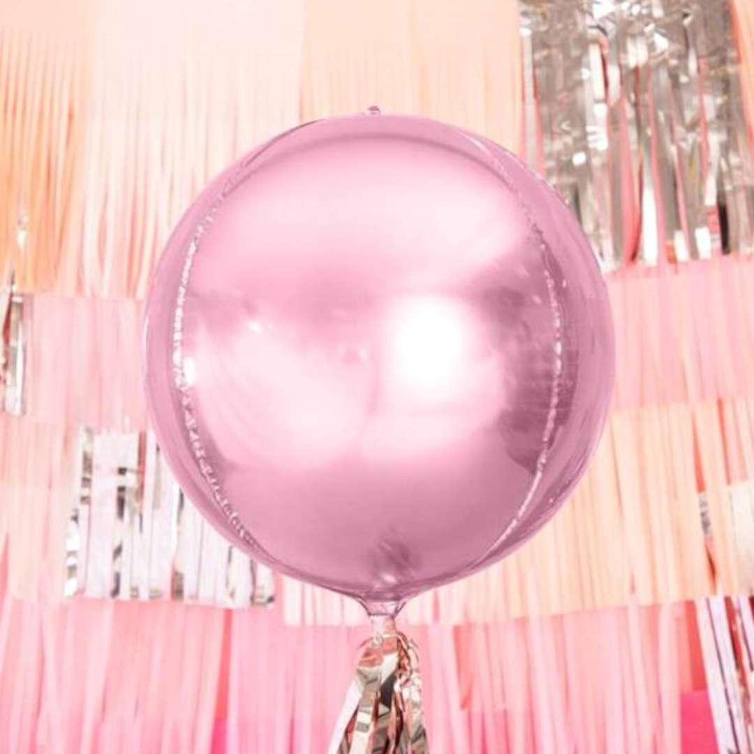 Balon foliowy Kula różowy pastelowy Amscan 16 ORB