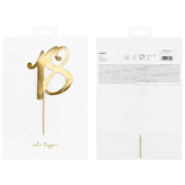 Piker Liczba 18 złoty PartyDeco 205 cm