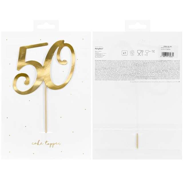 Piker Liczba 50 złoty PartyDeco 205 cm