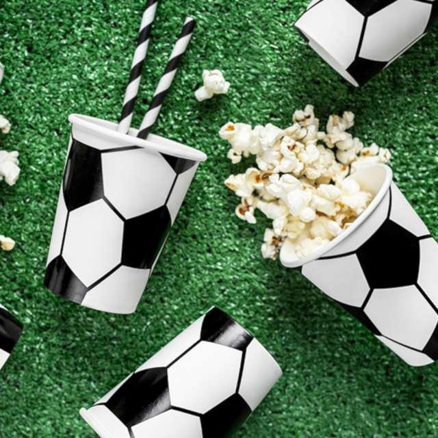 Zestaw dekoracji Football Party zielono-czarny PartyDeco 1kpl