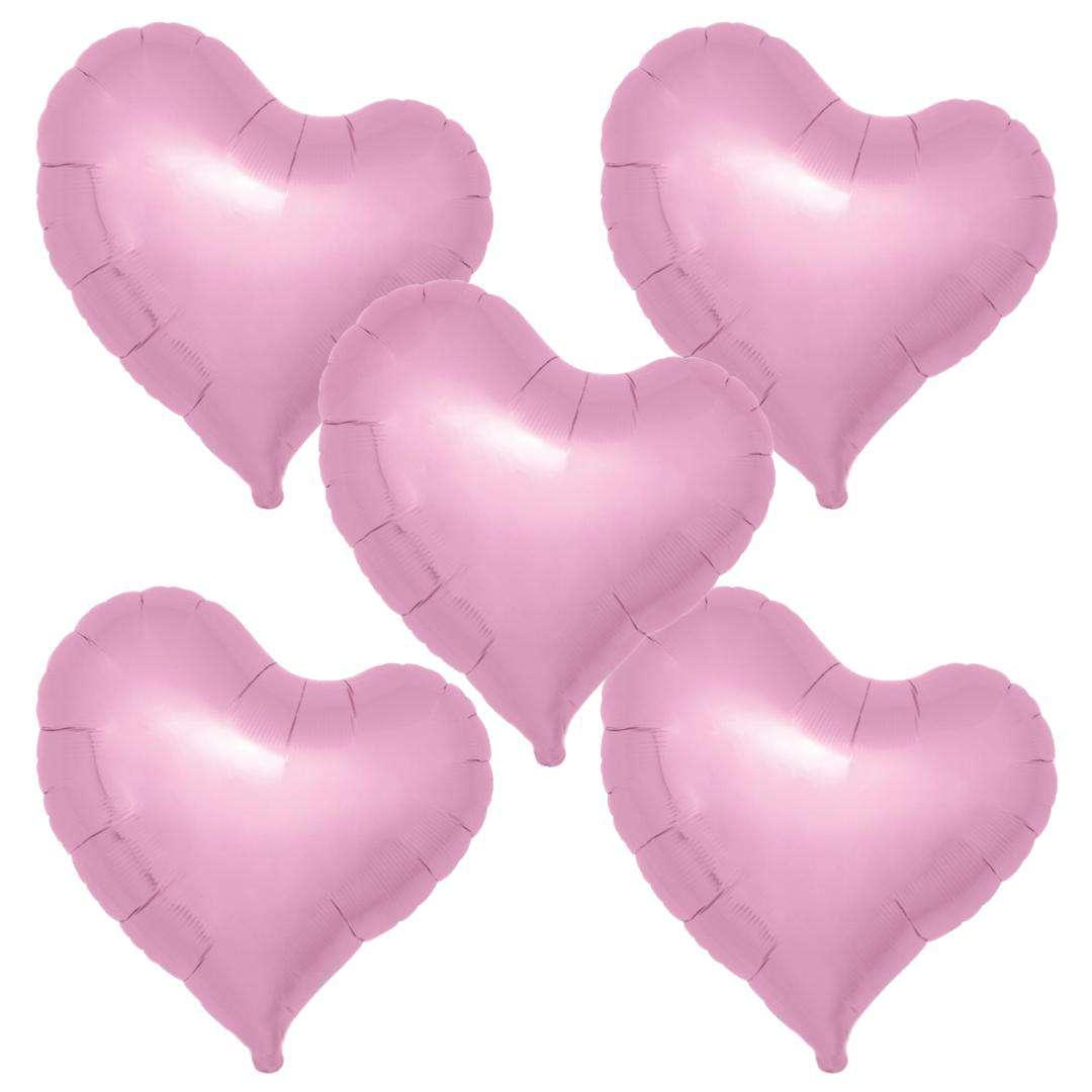 """Balon foliowy """"Serce fikuśne"""", różowy, Ibrex, 18"""", 5 szt., HRT"""