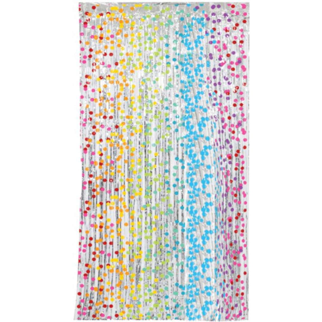 """Kurtyna na drzwi """"Classic"""", tęczowe kropki, Folat, 200x100 cm"""