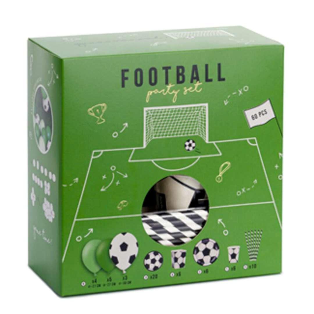 """Zestaw dekoracji """"Football Party"""", zielono-czarny, PartyDeco, 1kpl"""