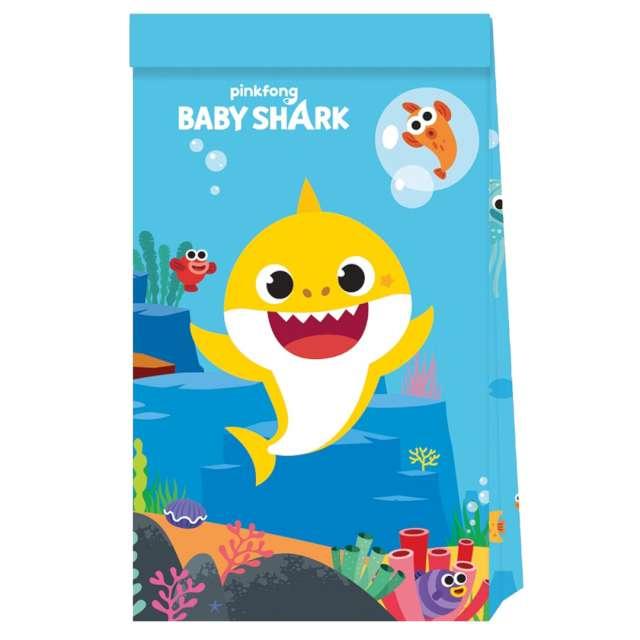 """Torebki prezentowe """"Baby Shark"""", Procos, 4 szt"""