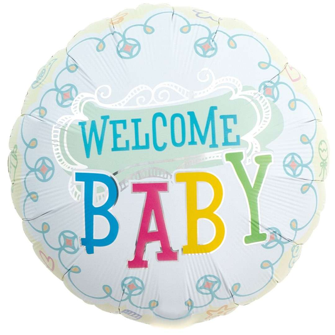 Balon foliowy Welcome baby Ibrex 14 RND