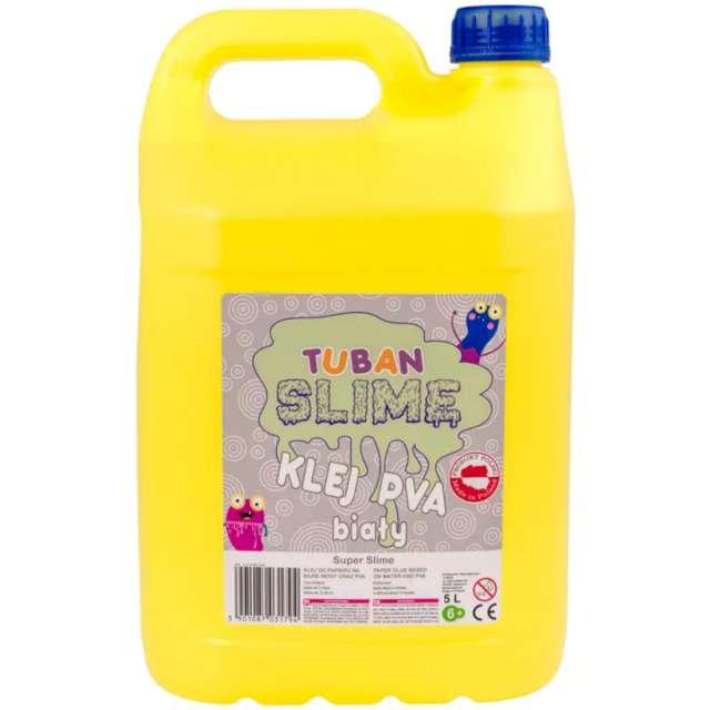 "Klej PVA ""Slime"", biały, Tuban, 5000 ml"