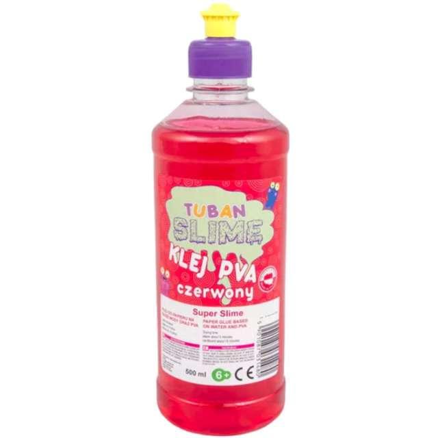 """Klej PVA """"Slime"""", czerwony, Tuban, 500 ml"""