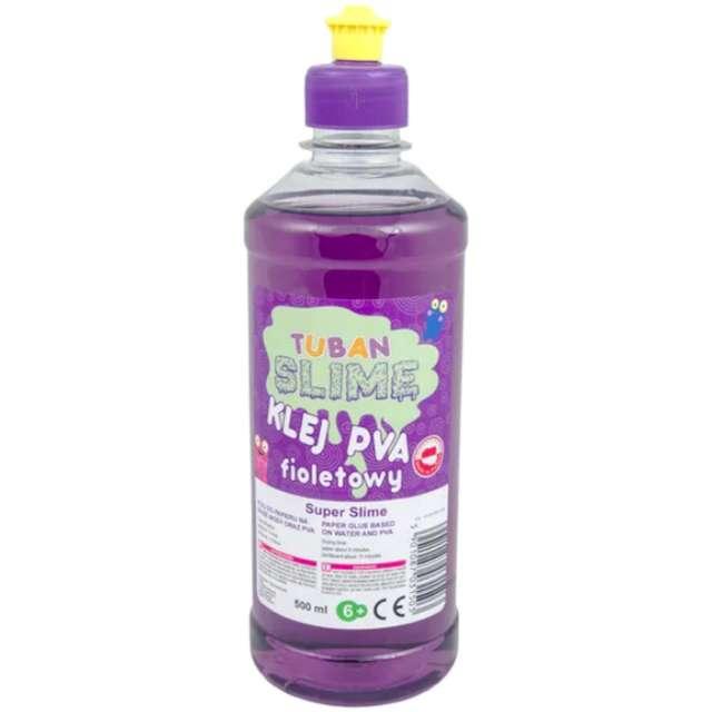 """Klej PVA """"Slime"""", fioletowy, Tuban, 500 ml"""