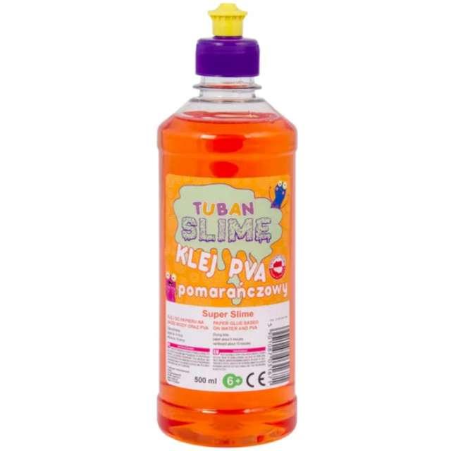 Klej PVA Slime pomarańczowy Tuban 500 ml