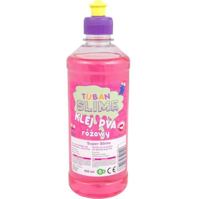 Klej PVA Slime różowy Tuban 500 ml