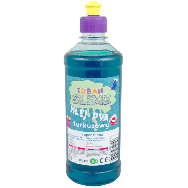 "Klej PVA ""Slime"", turkusowy, Tuban, 500 ml"