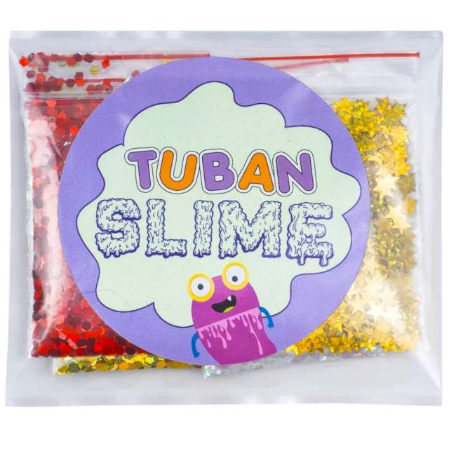 """Brokaty """"Slime - Gwiezdne niebo"""", mix kolorów i kształtów, Tuban, 5x5g"""