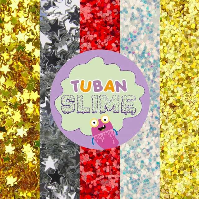Brokaty Slime - Gwiezdne niebo mix kolorów i kształtów Tuban 5x5g