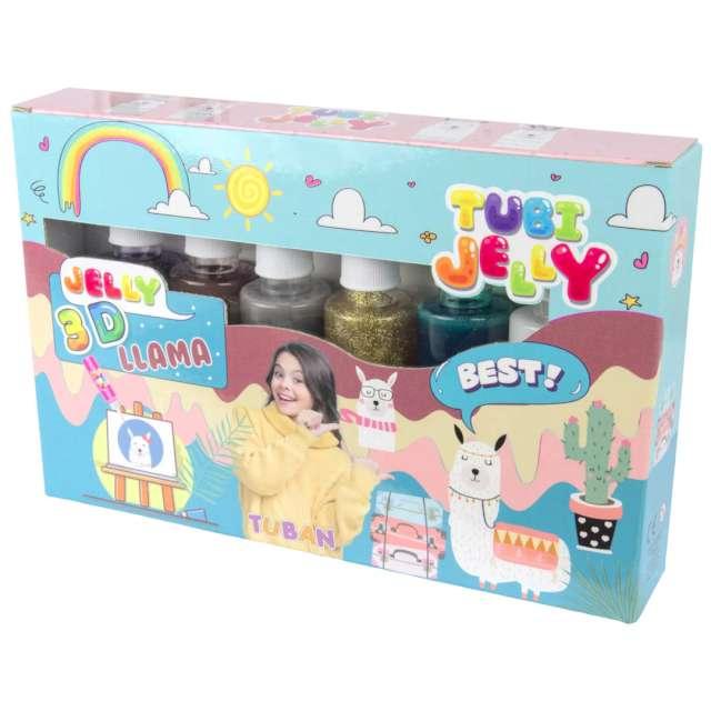 """Zestaw """"Tubi Jelly - Lama, 6 kolorów"""",Tuban"""