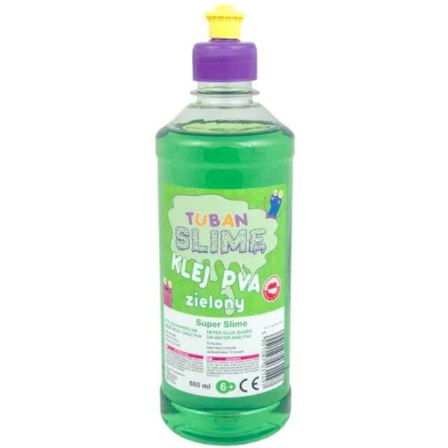 "Klej PVA ""Slime"", zielony, Tuban, 500 ml"