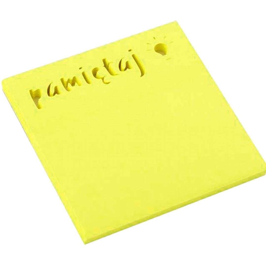 """Karteczki samoprzylepne """"Z wycięciem - Pamiętaj"""", D.RECT, 75 x 75 mm, 50 kartek"""