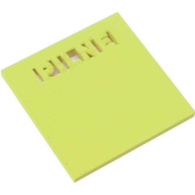 """Karteczki samoprzylepne """"Z wycięciem - PILNE"""", zielone, D.RECT, 75 x 75 mm, 50 kartek"""