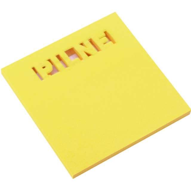 """Karteczki samoprzylepne """"Z wycięciem - PILNE"""", żółty, D.RECT, 75 x 75 mm, 50 kartek"""