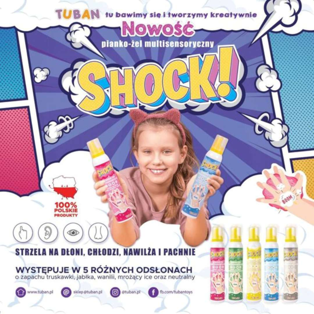 Multisensoryczny pianko-żel Shock - Ice  Tuban 200 ml