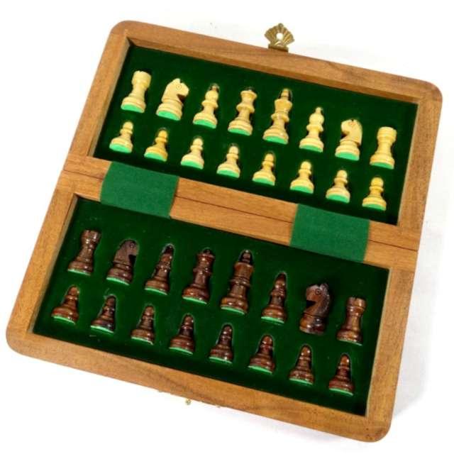 Gra planszowa Szachy magnetyczne z polisandru Kemiś 18 x 18 cm