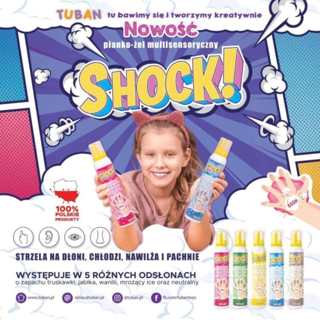 Multisensoryczny pianko-żel Shock - Truskawka  Tuban 200 ml