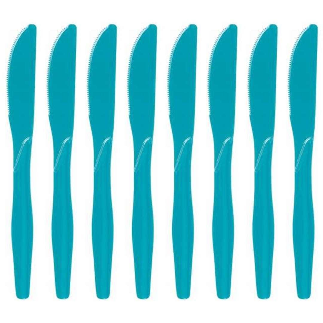 "Noże plastikowe ""Classic"", Godan, turkusowe, 18 cm, 8 szt"