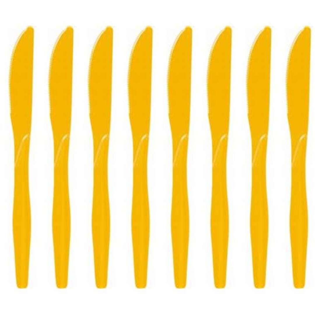"Noże plastikowe ""Classic"", Godan, żółte, 18 cm, 8 szt"