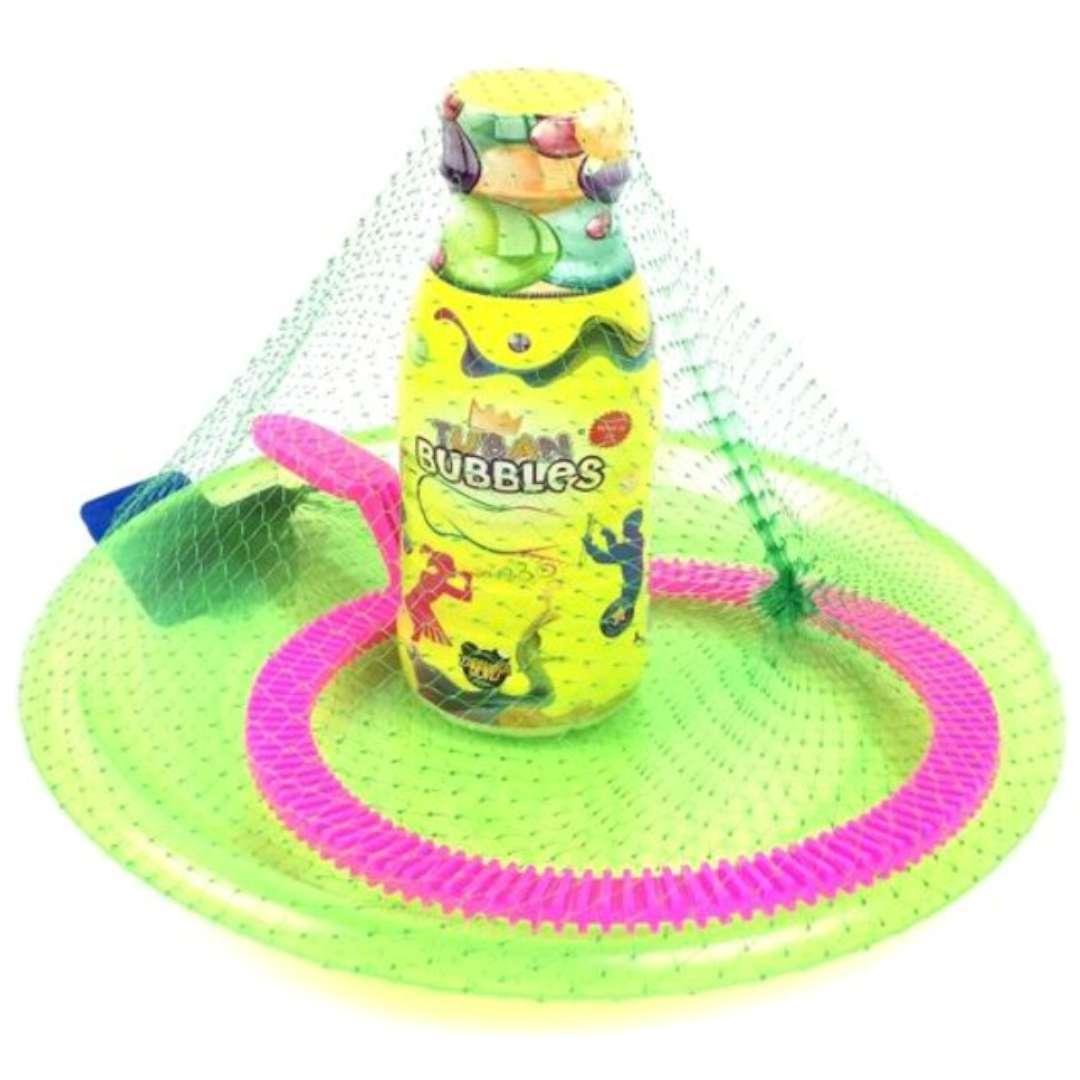 Zestaw do baniek mydlanych 1 obręcz i podstawka TUBAN 250 ml