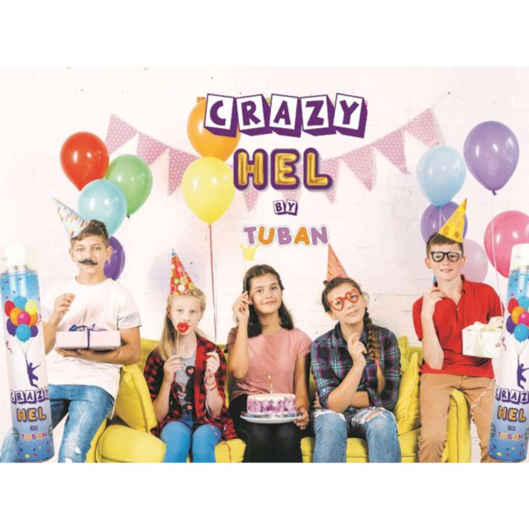 Hel do balonów Crazy spray Tuban 12 L