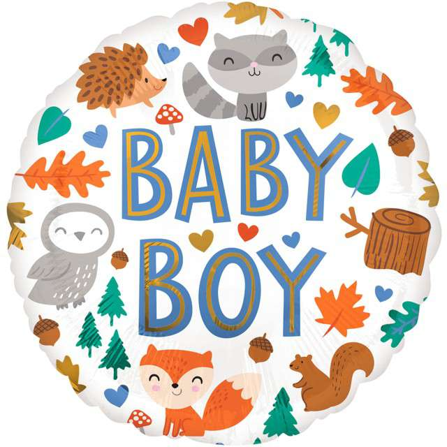 _xx_Standard Baby Boy Woodland Fun balon foliowy